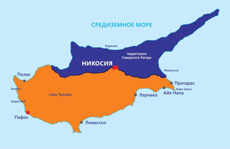 Карта Кипра